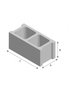 Bloque hormigón 9x20x50