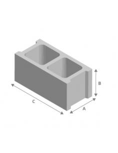 Bloque hormigón 12x20x50