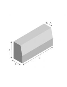 Bordillo hormigón 9/12x25x50